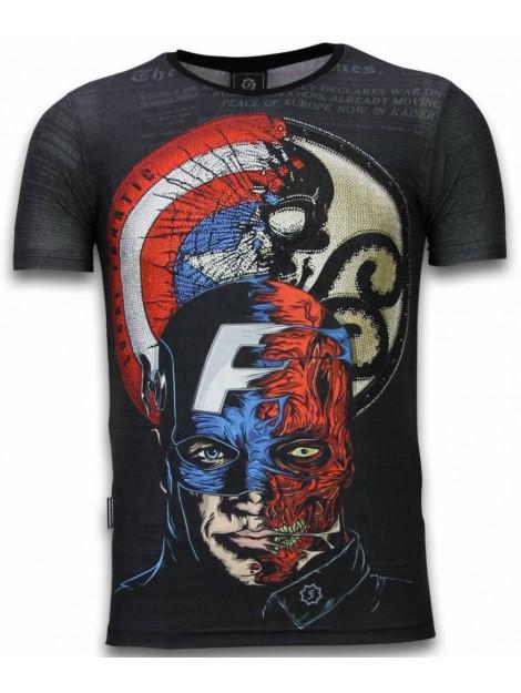 Local Fanatic Captain digital rhinestone t-shirt 11-6266Z large