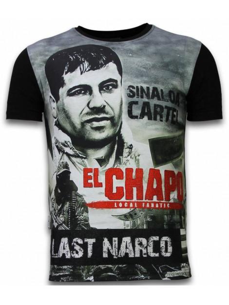 Local Fanatic El chapo last narco digital rhinestone t-shirt 11-6260Z large