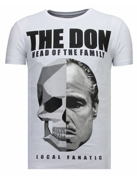 Local Fanatic The don skull rhinestone t-shirt 13-6238W large