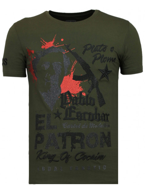 Local Fanatic El patron pablo rhinestone t-shirt 13-6236K large