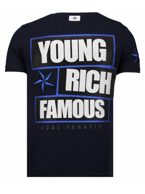 Local Fanatic Young rich famous rhinestone t-shirt 13-6234N large