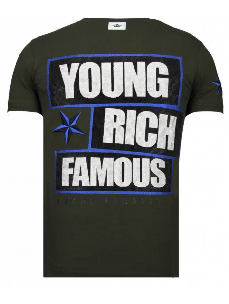 Local Fanatic Young rich famous rhinestone t-shirt 13-6234K large