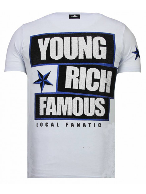 Local Fanatic Young rich famous rhinestone t-shirt 13-6234W large