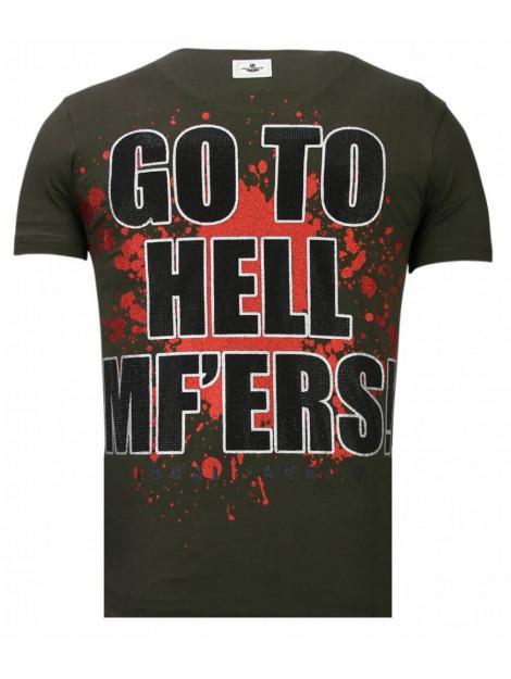 Local Fanatic Glory martial rhinestone t-shirt 13-6232K large