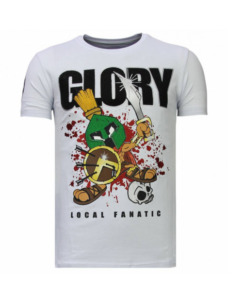 Local Fanatic Glory martial rhinestone t-shirt 13-6232W large