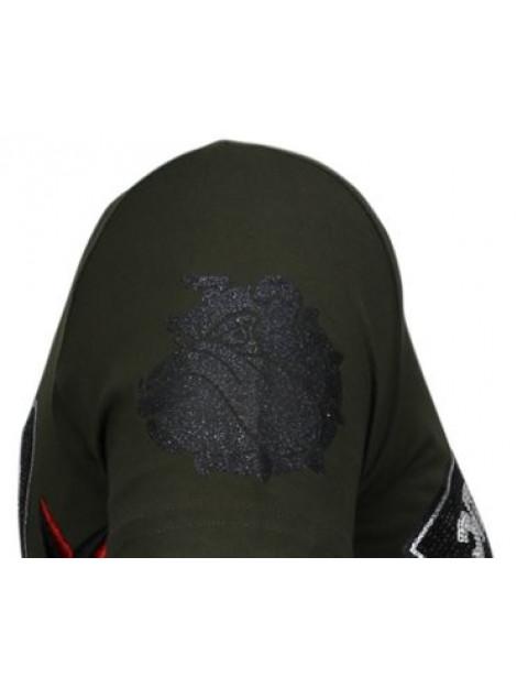 Local Fanatic Fight club spike rhinestone t-shirt 13-6230K large