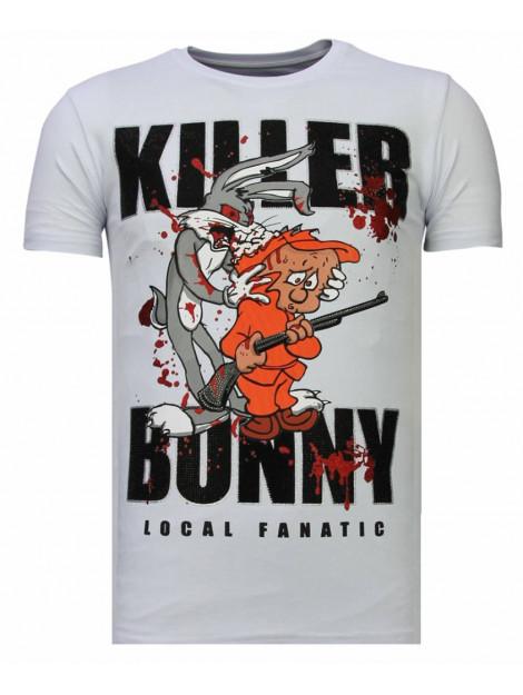 Local Fanatic Killer bunny rhinestone t-shirt 13-6229W large
