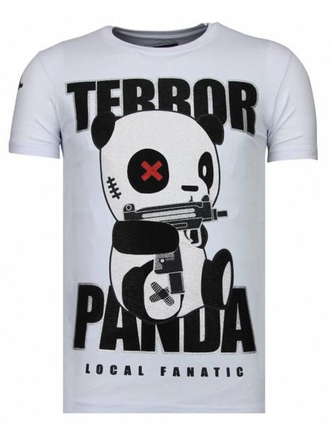 Local Fanatic Terror panda rhinestone t-shirt 13-6227W large