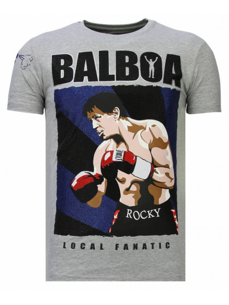 Local Fanatic Balboa rhinestone t-shirt 13-6223G large