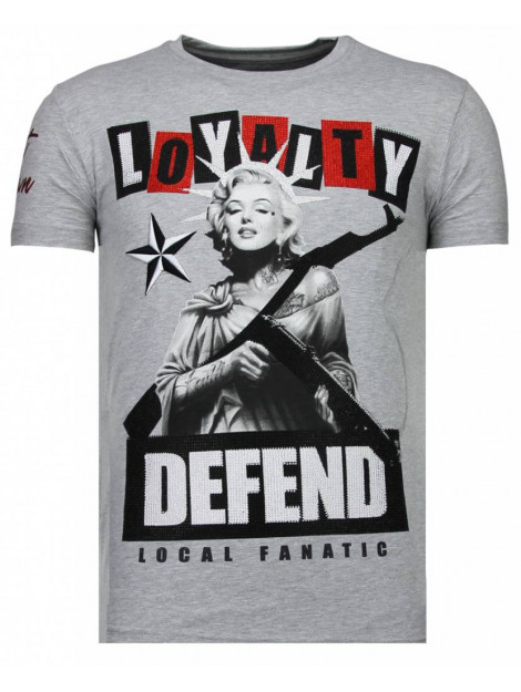 Local Fanatic Loyalty marilyn rhinestone t-shirt 13-6222G large