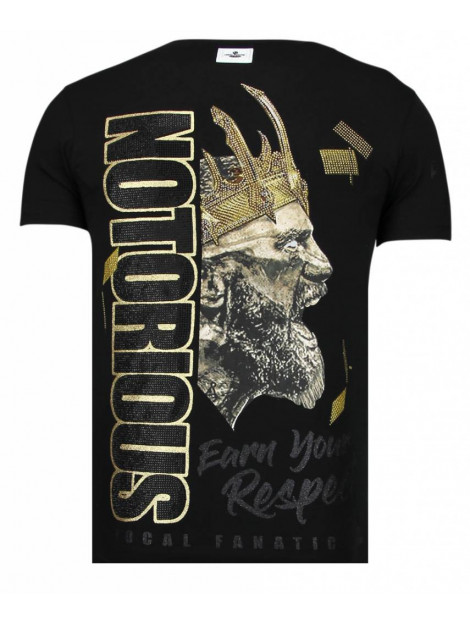 Local Fanatic Notorious king conor mcgregor mcgregor rhinestone t-shirt 13-6221Z large