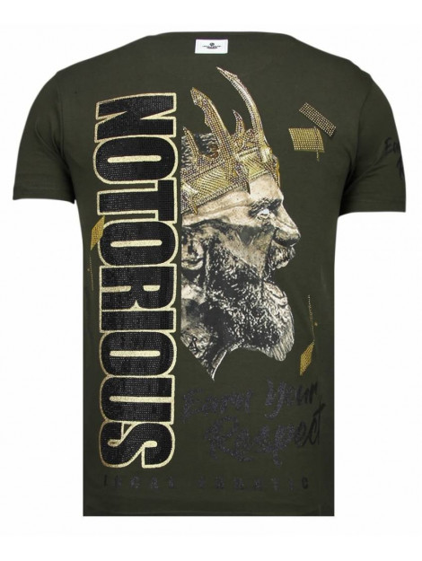 Local Fanatic Notorious king conor mcgregor rhinestone t-shirt 13-6221K large
