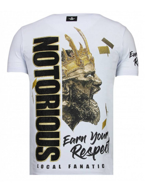 Local Fanatic Notorious king conor mcgregor rhinestone t-shirt 13-6221W large