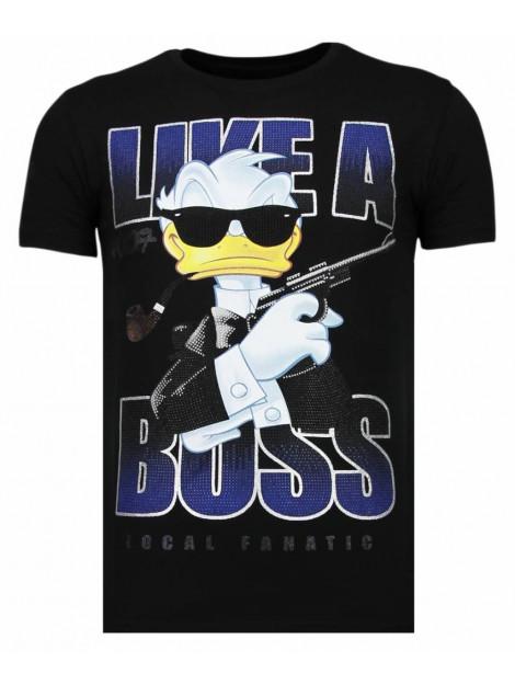 Local Fanatic Like a boss rhinestone t-shirt 13-6220Z large