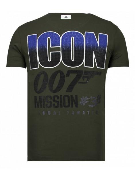 Local Fanatic Like a boss rhinestone t-shirt 13-6220K large
