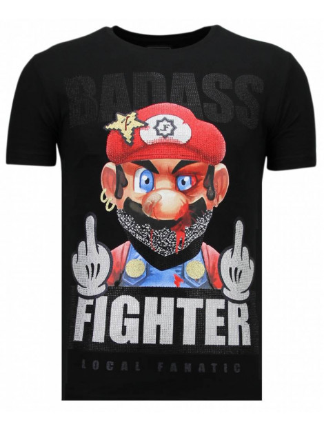 Local Fanatic Fight club mario rhinestone t-shirt 13-6219Z large