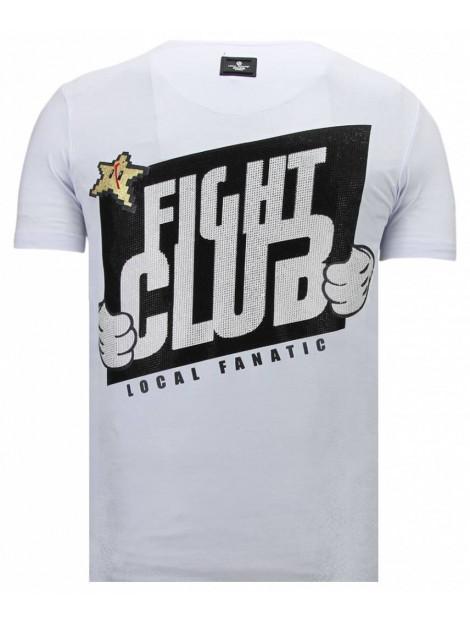 Local Fanatic Fight club mario rhinestone t-shirt 13-6219W large