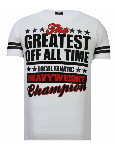 Local Fanatic Greatest of all time rhinestone t-shirt 13-6215W large