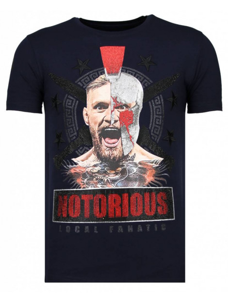 Local Fanatic Notorious warrior mcgregor rhinestone t-shirt 13-6216N large
