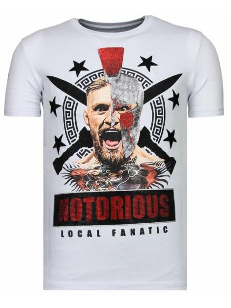 Local Fanatic Notorious warrior mcgregor rhinestone t-shirt 13-6216W large