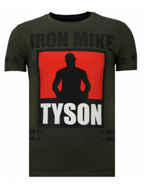 Local Fanatic Iron mike tyson rhinestone t-shirt 13-6212K large