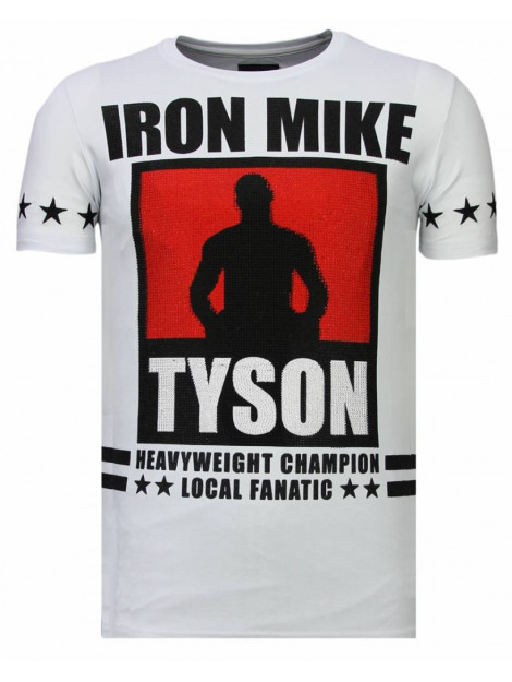Local Fanatic Iron mike tyson rhinestone t-shirt 13-6212W large