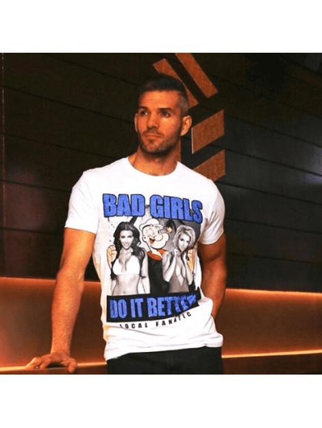 Local Fanatic Bad girls do it better rhinestone t-shirt 13-6210W large
