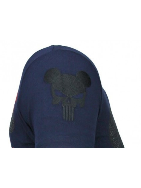 Local Fanatic Punisher mickey rhinestone t-shirt 13-6208N large