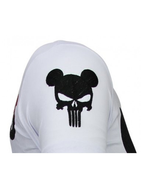 Local Fanatic Punisher mickey rhinestone t-shirt 13-6208W large
