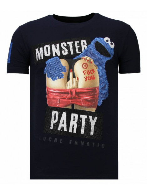Local Fanatic Monster party rhinestone t-shirt 13-6206N large