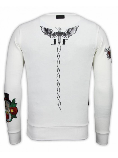 Local Fanatic Mcgregor notoriuous tattoo embroidery sweater 13-6201W large