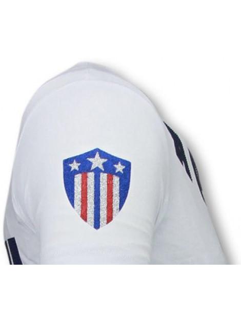 Local Fanatic Captain duck rhinestone t-shirt 6007W large