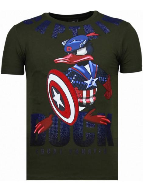 Local Fanatic Captain duck rhinestone t-shirt 6007G large