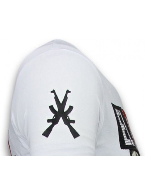 Local Fanatic El patron narcos billionaire rhinestone t-shirt 5783W large