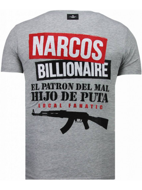 Local Fanatic El patron narcos billionaire rhinestone t-shirt 5783G large
