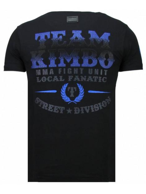 Local Fanatic Kimbo slice rhinestone t-shirt 5766Z large