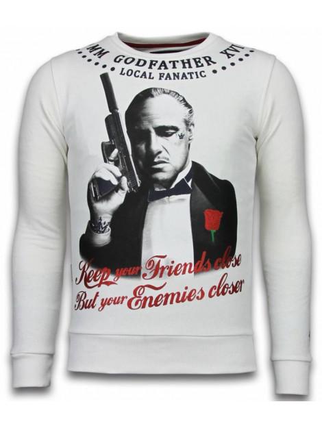 Local Fanatic Godfather rhinestone sweater 6175W large