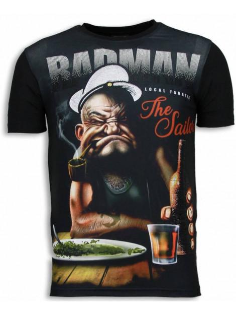 Local Fanatic Popeye badman digital rhinestone t-shirt 6168 large