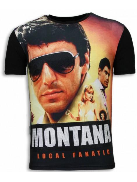 Local Fanatic Tony montana digital rhinestone t-shirt 5987 large