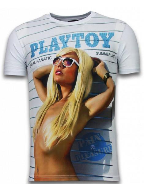 Local Fanatic Playtoy summer jam digital rhinestone t-shirt 5965 large