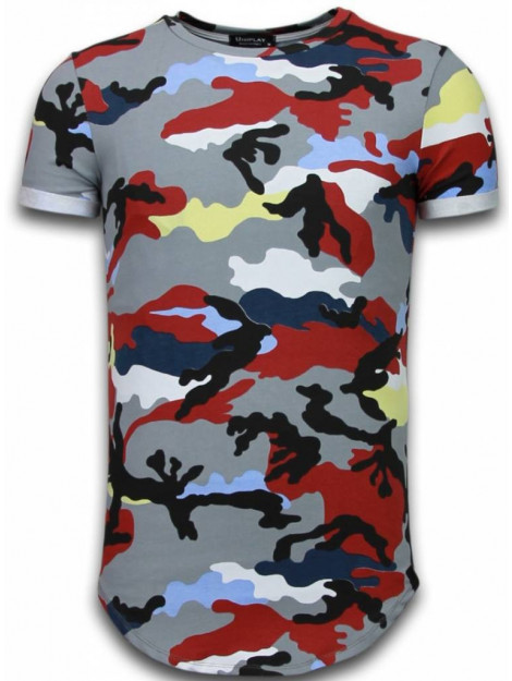Tony Backer Known camouflage t-shirt long fit UP-T127P large