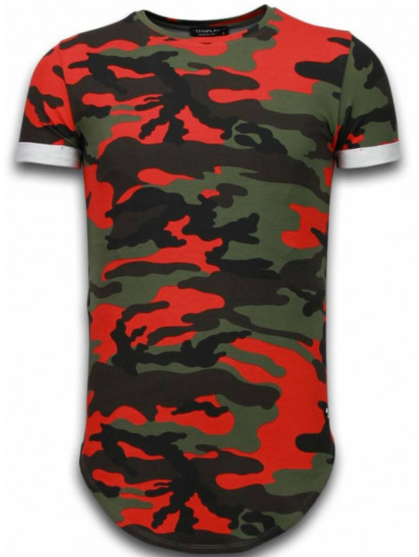 Tony Backer Known camouflage t-shirt long fit UP-T128R large