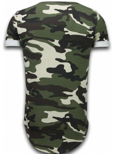 Tony Backer Known camouflage t-shirt long fit UP-T128G large