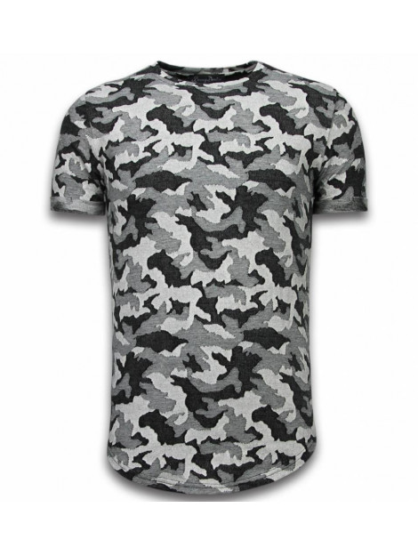 Justing Casual camouflage pattern aired slim fit t-shirt BRD048G large