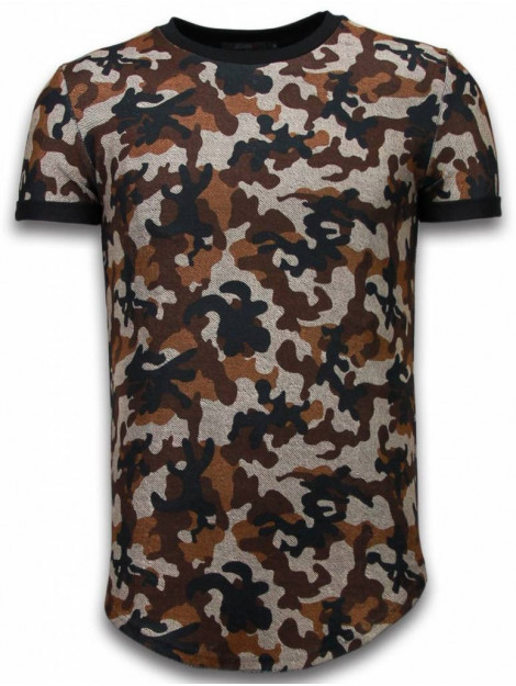 Justing Camouflaged fashionable t-shirt long fit 111B large