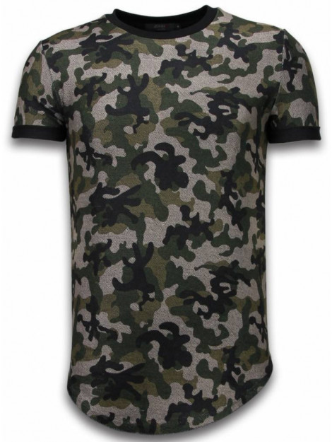 Justing Camouflaged fashionable t-shirt long fit 111G large