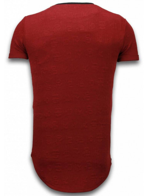 Justing 3d encrypted t-shirt long fit T09183R large