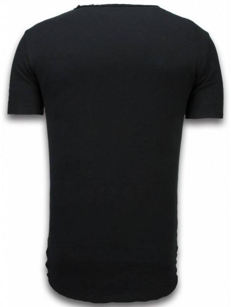 © MAN Damaged look shirt long fit t-shirt 6314Z large