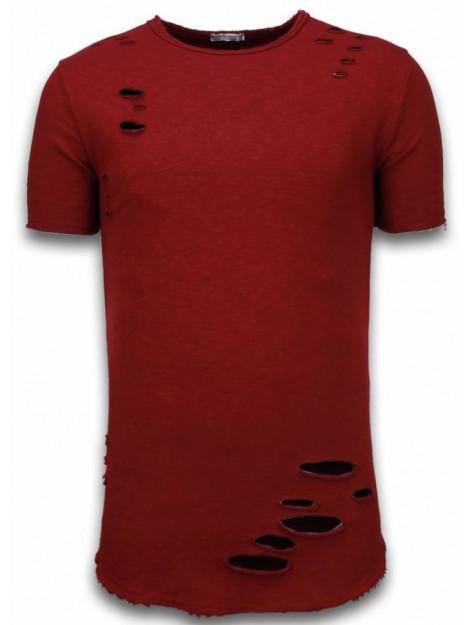 © MAN Damaged look shirt long fit t-shirt 6214B large