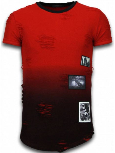 Justing Pictured flare effect t-shirt long fit T09182R large